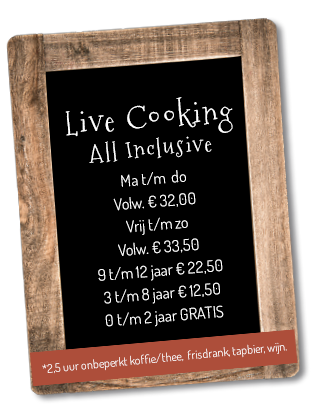 all inclusive live cooking tot september