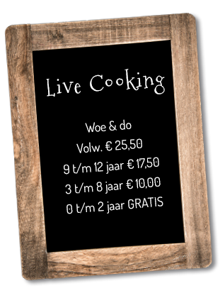 live cooking linker bord woe do